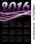 calendar for 2016 on violet... | Shutterstock .eps vector #317009861