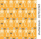 halloween seamless pattern.... | Shutterstock .eps vector #317011565
