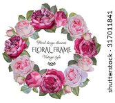 Vintage Floral Greeting Card...