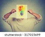 man having brilliant idea... | Shutterstock . vector #317015699