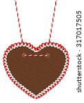 empty gingerbread heart... | Shutterstock . vector #317017505