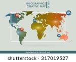 abstract creative concept... | Shutterstock .eps vector #317019527