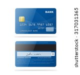 set of credit cards isolated on ... | Shutterstock .eps vector #317031365