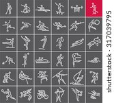 sports icons vector set....