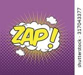 zap  wording sound effect for...   Shutterstock .eps vector #317043377