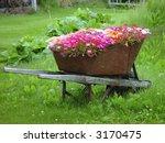 Wheelbarrow Filled With Flowers ...