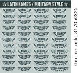 hispanic popular names  set of... | Shutterstock .eps vector #317050325