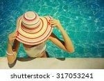 beautiful young woman relaxing... | Shutterstock . vector #317053241