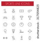 sport line icons set. | Shutterstock .eps vector #317054825