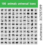 Stock vector animal icons pack 317057399