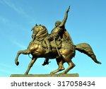 bronze statue of michael the... | Shutterstock . vector #317058434