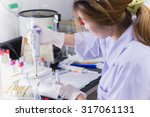 asia women medical technology... | Shutterstock . vector #317061131