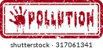 no pollution stamp | Shutterstock .eps vector #317061341