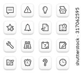 organizer contour icons on... | Shutterstock .eps vector #317062595
