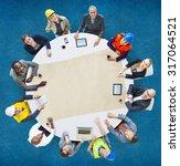 architect engineer meeting...   Shutterstock . vector #317064521