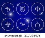 scales of justice icon set. | Shutterstock .eps vector #317065475