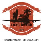 vintage summer shield with long ...   Shutterstock .eps vector #317066234