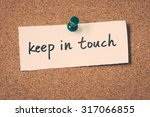 keep in touch   Shutterstock . vector #317066855