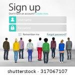 sign up register online...   Shutterstock . vector #317067107