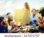 copy space frame summer... | Shutterstock . vector #317071757