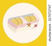 cookies theme elements vector... | Shutterstock .eps vector #317072747