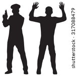criminal  offender and police... | Shutterstock . vector #317088479