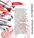 cosmetics and fashion... | Shutterstock .eps vector #317089505