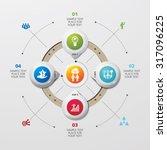 template modern info graphic... | Shutterstock .eps vector #317096225