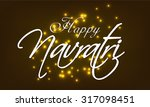 vector illustration navratri... | Shutterstock .eps vector #317098451