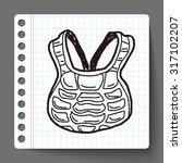 baseball catcher doodle   Shutterstock .eps vector #317102207