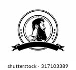 bearded mustache manly guy man... | Shutterstock .eps vector #317103389