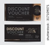 discount voucher template with... | Shutterstock .eps vector #317109071