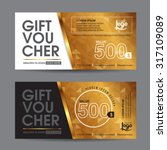 gift voucher template with... | Shutterstock .eps vector #317109089