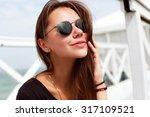 pretty young beautiful sensual... | Shutterstock . vector #317109521