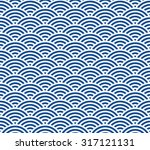 blue and dark blue japanese... | Shutterstock .eps vector #317121131