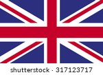 united kingdom flag uk england... | Shutterstock .eps vector #317123717