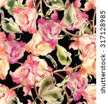roses seamless pattern | Shutterstock . vector #317128985
