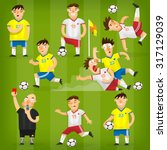 set of colorful football... | Shutterstock .eps vector #317129039