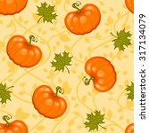 seamless autumn pattern with... | Shutterstock .eps vector #317134079