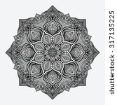 mandala. circular monochrome... | Shutterstock .eps vector #317135225