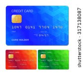 three color credit cards with... | Shutterstock .eps vector #317138087