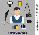 photographer profession flat... | Shutterstock .eps vector #317150315
