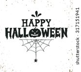 hand drawn happy halloween...   Shutterstock .eps vector #317151941