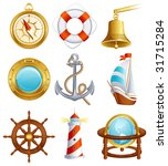 sailing icon set   raster... | Shutterstock . vector #31715284