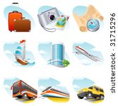 travel icon set   raster version | Shutterstock . vector #31715296