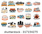 halloween horror and eerie... | Shutterstock .eps vector #317154275