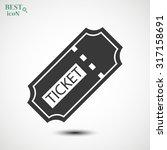 ticket vector icon | Shutterstock .eps vector #317158691