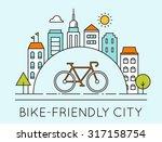 outline illustration of modern... | Shutterstock .eps vector #317158754
