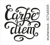 hand lettering typography... | Shutterstock . vector #317160335