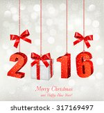 2016 new years background with... | Shutterstock .eps vector #317169497